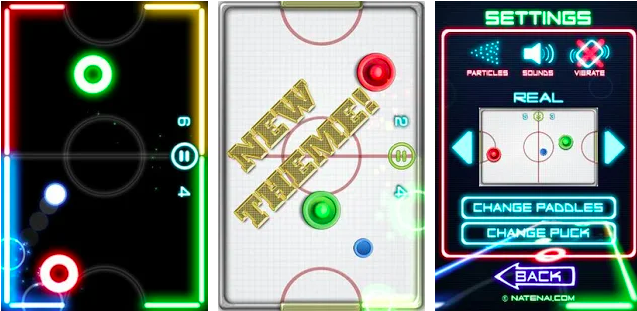 Best Local Offline Multiplayer Games for Android 2018 (Glow Hockey 2)