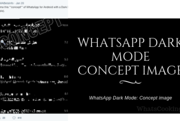 WhatsApp Dark Mode concept image