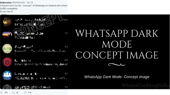 WhatsApp Dark Mode: Concept Image Revealed