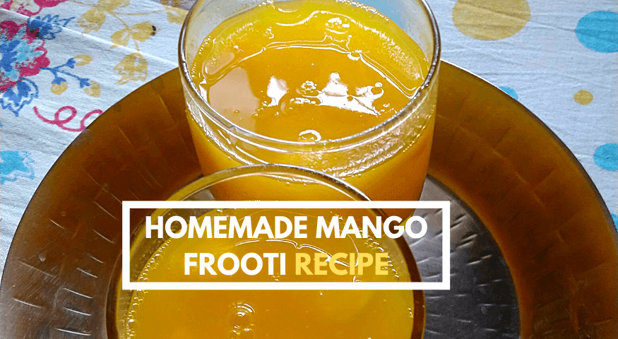Fresh Mango Juice | 3 Ingredient Easy Homemade Mango Frooti