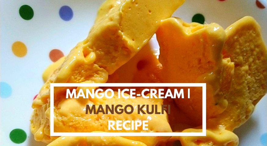 Easy Homemade Mango Ice Cream | 5 Ingredient Mango Ice Cream